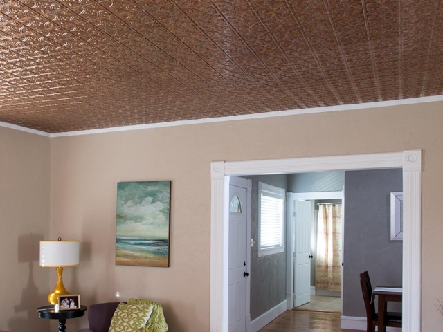 Traditional 1 ceiling in Cracked Copper