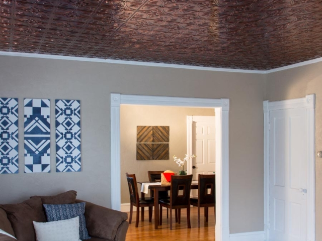 Traditional 2 ceiling in Moonstone Copper