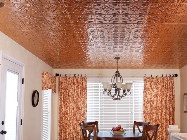 Traditional 2 ceiling in Polished Copper