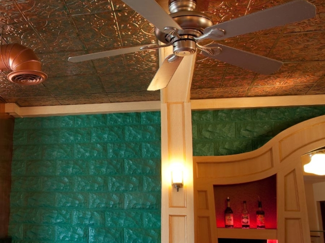 Traditional 2 ceiling in Copper Fantasy