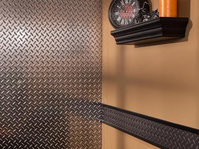 Diamond Plate wall panel in Brushed Nickel