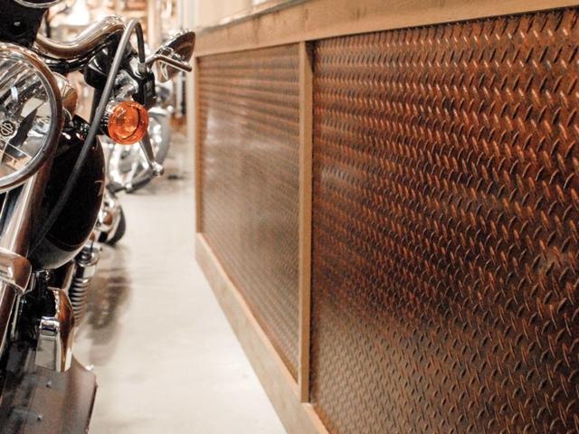 Diamond Plate wall panel in Moonstone Copper