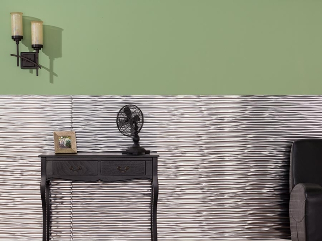 Dunes wall panel in Brushed Aluminum