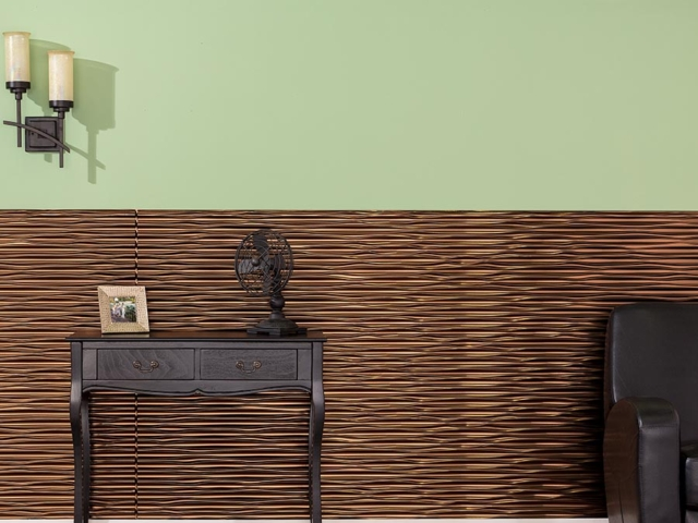 Dunes wall panel in Oil-Rubbed Bronze