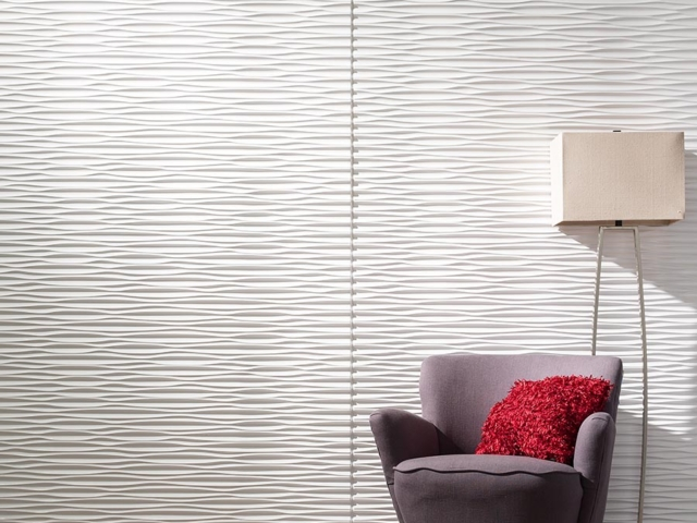Dunes wall panel in Gloss White