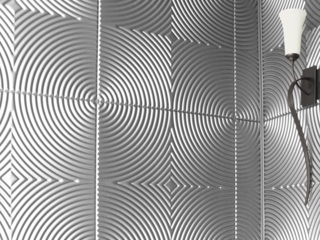 Echo wall panel in Brushed Aluminum
