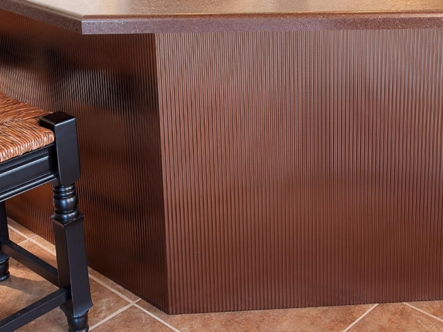 Rib wall panel in Oil-Rubbed Bronze