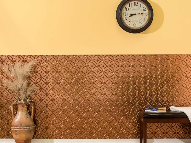 Rings wall panel in Antique Bronze