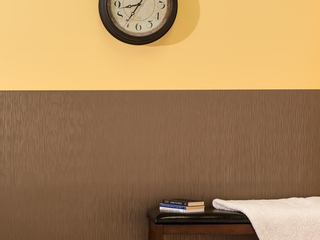 Ripple wall panel in Argent Bronze