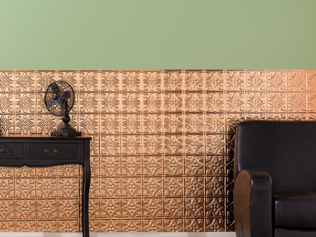 Traditional 1 wall panel in Polished Copper