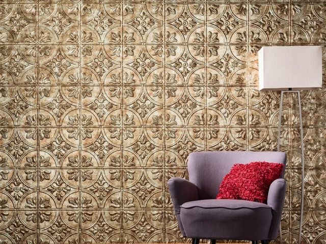 Traditional 2 wall panel in Bermuda Bronze
